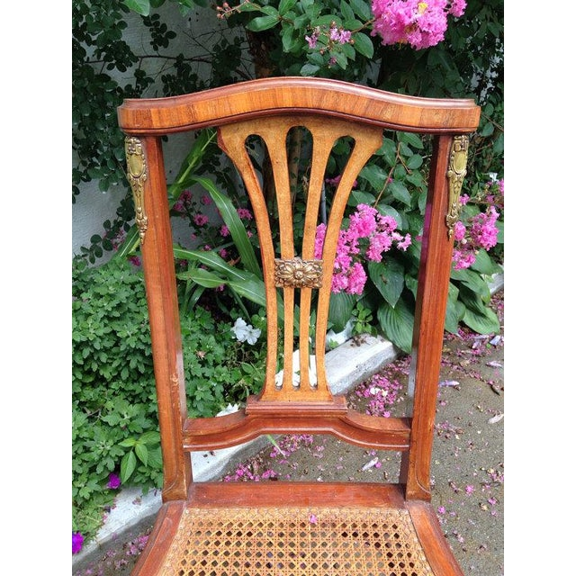 Image of Art Nouveau Chairs with Tapered Legs - Pair