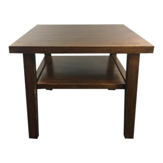 Vintage Two-Tier Wood & Laminate End Table