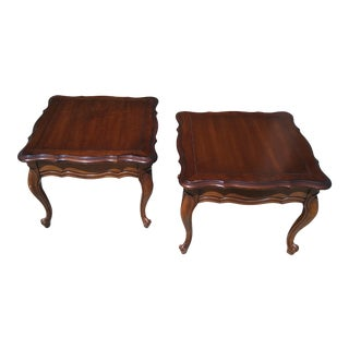 Vintage Provincial End Tables - A Pair