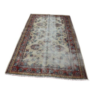 Handmade Turkish Oushak Rug - 4′7″ × 7′