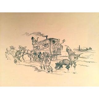 Original Vintage 1897 Traveling Road Show Print