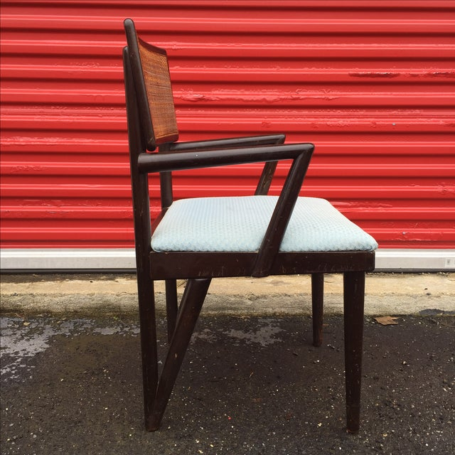 Image of Mid-Century Modern Mahogany Arm Chair With Cane