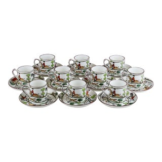 English Staffordshire Bone China Demitasse & Saucers - Set of 10