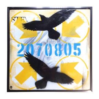 """Richard Christensen """"Pop Art Bird"""" Painting"""