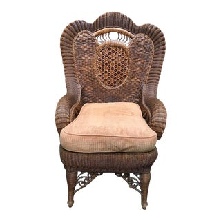 Victorian Style Wicker Club Chair