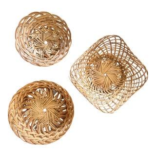 Boho Chic Wall Hanging Baskets - Set of 3