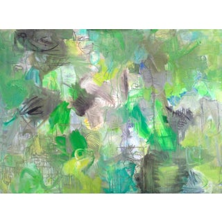 """Trixie Pitts """"Appalachian Trail"""" Abstract Oil Painting"""