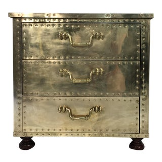 Sarreid Brass Three Drawer Chest