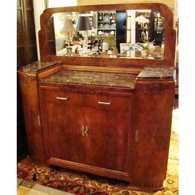 Image of German Art Deco Walnut Buffet