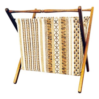 Vintage Folding Sewing Basket
