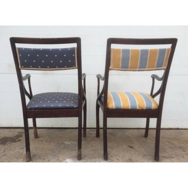 Art Nouveau Style Vintage Chairs - A Pair - Image 6 of 6