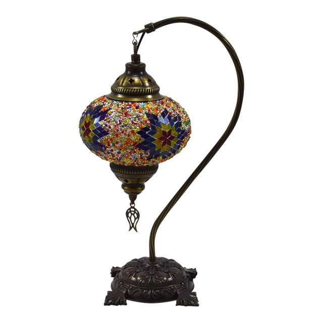 Turkish Handmade Mosaic Lamp - Image 1 of 7