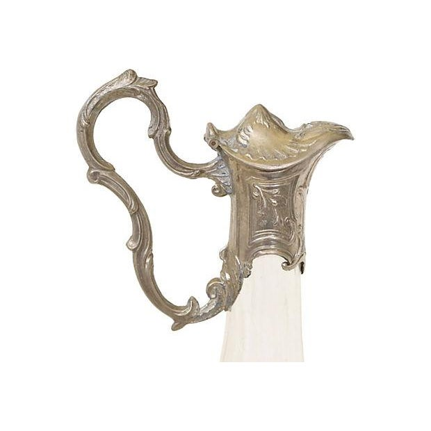 Image of Large Silver & Glass Ewer