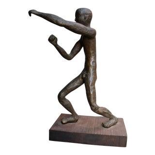 Brutalist Nude Male Bronze Sculpture