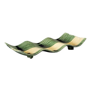 Green-glazed Rectangular Platter