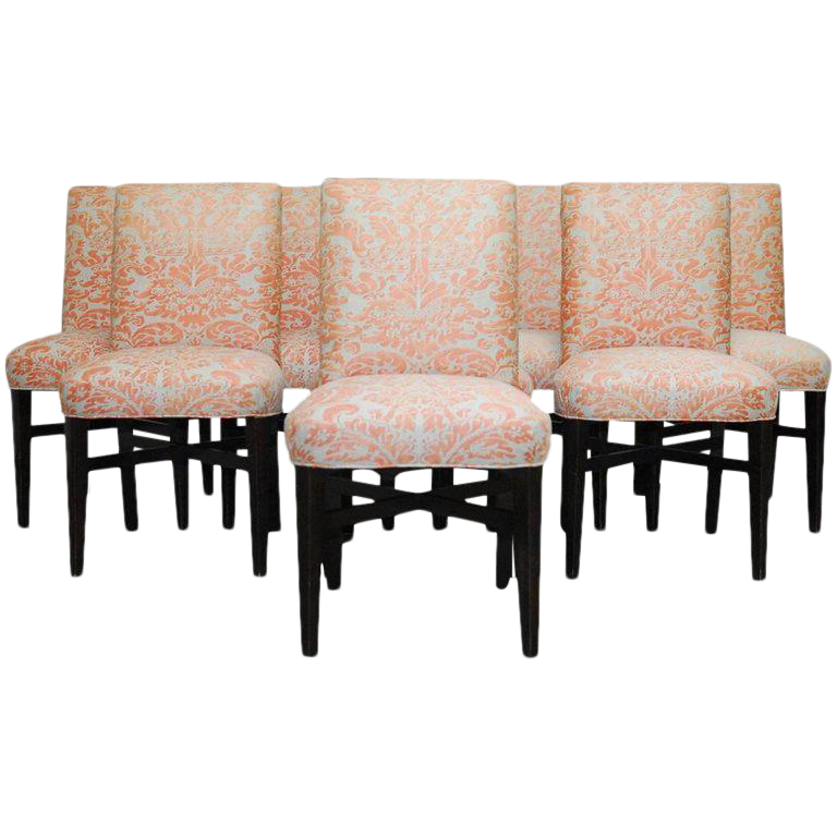 fortuny corone upholstered dining chairs set of 8