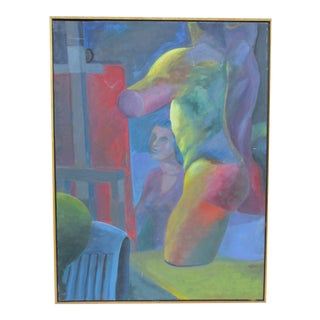 Abstract Modernist Still Life Painting, 1960s