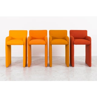 Set of Milo Baughman Gradient Stool Chairs