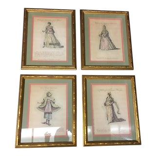 Antique Framed Prints of Ladies - Set of 4