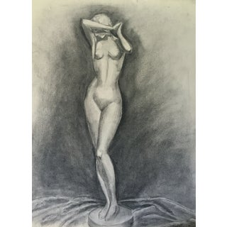 Mid Century Drawing Nude Female Figure by Costello