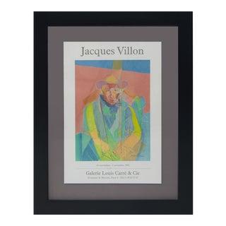 Vintage Sarreid LTD Jacques Villon Exhibition Poster