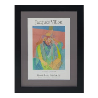 Vintage Sarreid LTD Jacques Villon Exhibition Poster