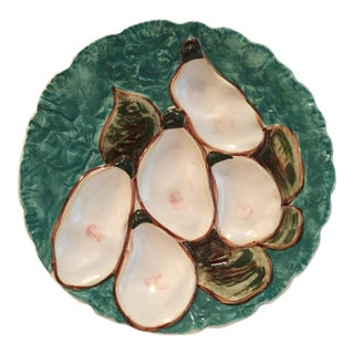 Stangl Green Turkey Oyster Plate