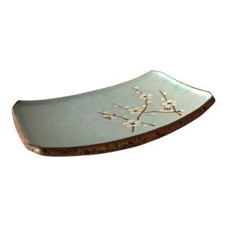 Asian Ceramic Cherry Blossom Dish