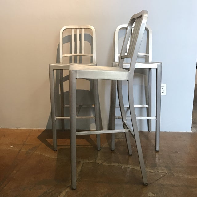 Emeco Aluminum Bar Stools- Set of 3 - Image 4 of 6