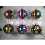 Image of Tri-Colored Stripe Ornaments - Set of 6