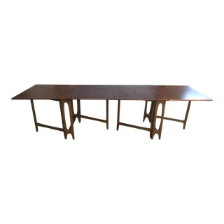 Mid-Century Modern Gate-Leg Expandable Dining Table