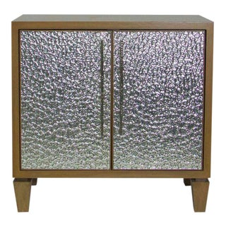 Erinn V. Oak Half Mirrored Cabinet