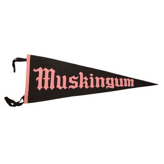 Muskingum Ohio College Felt Flag