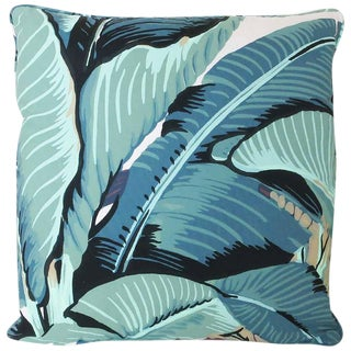 "Beverly Hills Hotel ""Martinique Banana Leaf"" Throw Pillow"