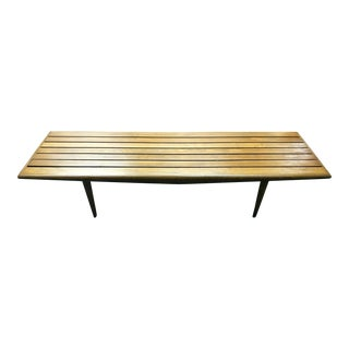 Mid-Century Teak Slat Bench or Coffee Table
