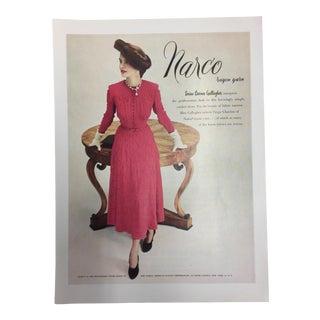 1948 Narco Rayon Yarns Ad