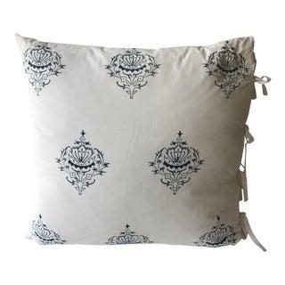 Indigo Block Print-Euro Square Pillow