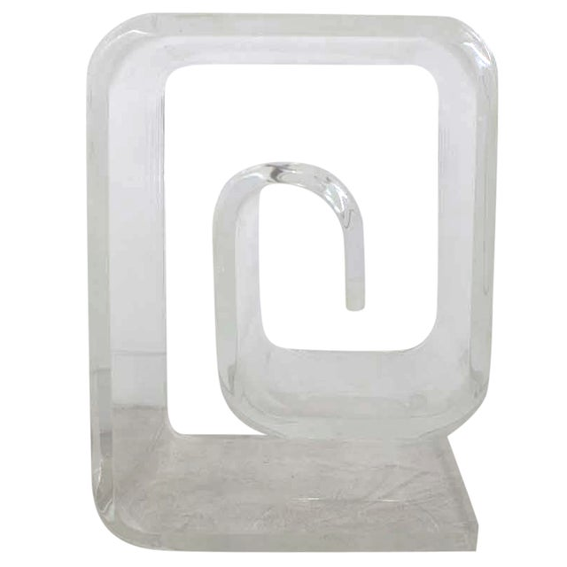 Lucite Spiral Side Table - Image 1 of 10