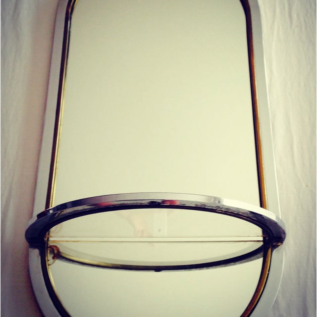 Image of On Hold- Pace Collection Chrome & Brass Mirror