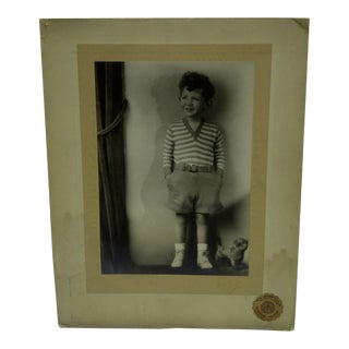 C. 1930 Little Boy Standing Black & White Photograph by Vincent Evans