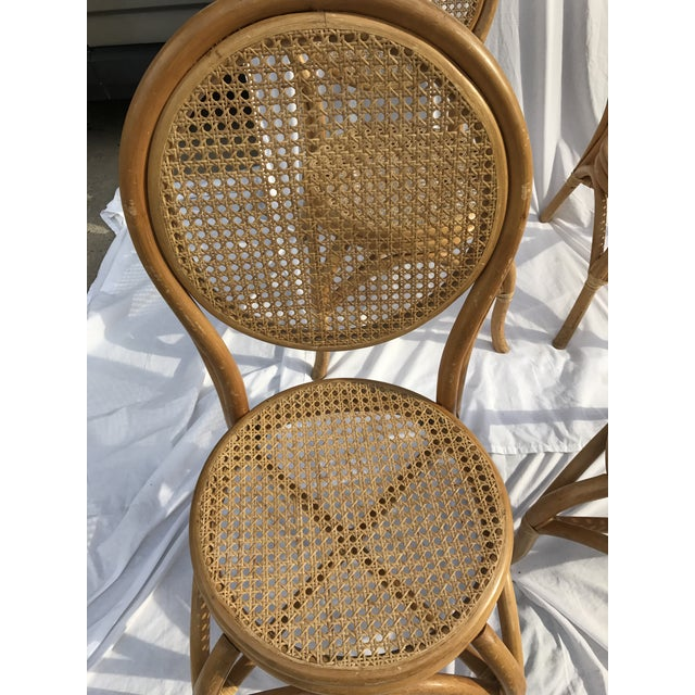 Image of Sheet Cane Bentwood Bistro Chairs - Set of 4