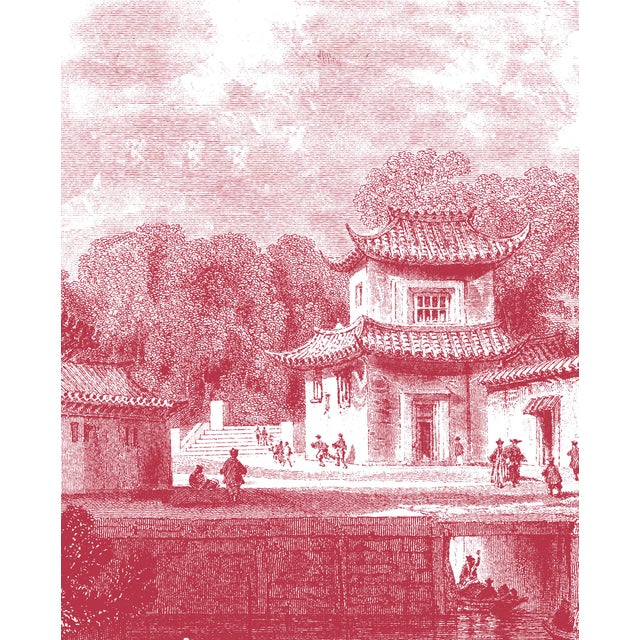 "Mitchell Black Home Acrylic Framed ""Bridge Chapoo"" Chinese Village Scene Print - Image 4 of 4"