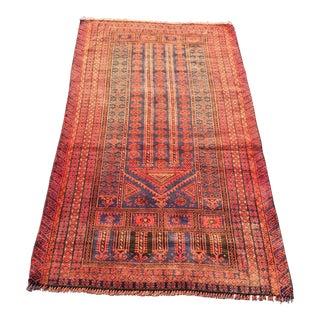 "Vintage Persian Baluchi Area Rug - 2'9"" X 5'"