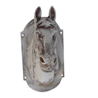 Gray Rustic Farmhouse Cast Iron Horse Head Wall Mount