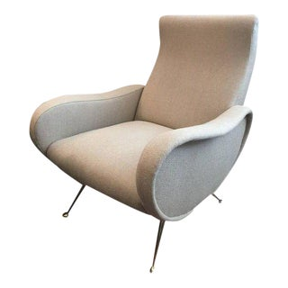 Sculptural Zanuso Style Single Armchair