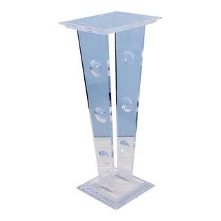 1970s Acrylic Pedestal Base