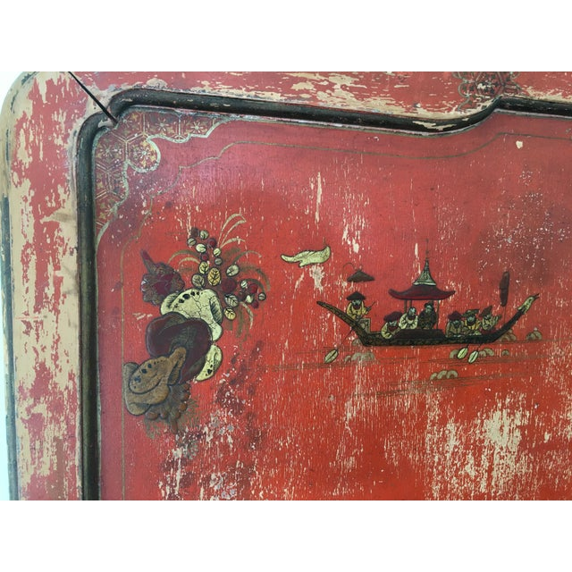 Vintage Chinoiserie Styled Wooden Headboard - Image 4 of 6