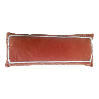 Dominique Picquier Orange Velvet Pillow