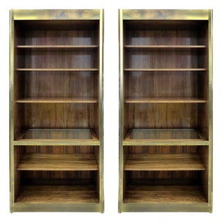 Mastercraft Rosewood & Brass Bookcases - A Pair