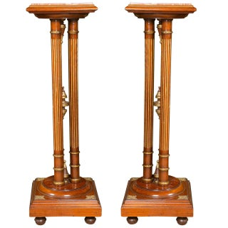 Regency Style Mahogany Pedestals - A Pair